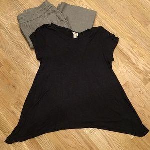 Top, Oversize, Black